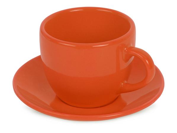 Чайная пара Melissa, ярко-оранжевая - фото № 1