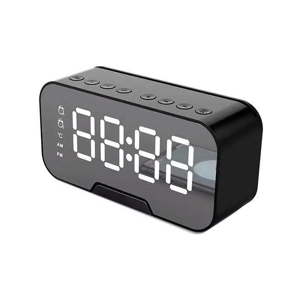 Часы-метеостанция Allora с Bluetooth-колонкой и функцией Hands Free, черная - фото № 1