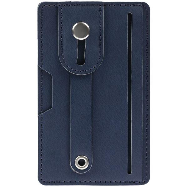 Чехол для карт на телефон Frank с RFID-защитой, синий - фото № 1
