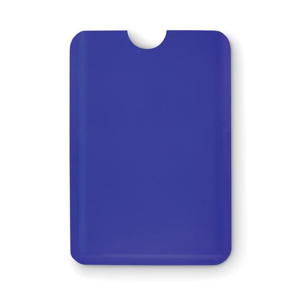 Чехол для кредитной карты, пластик, синий - фото № 1