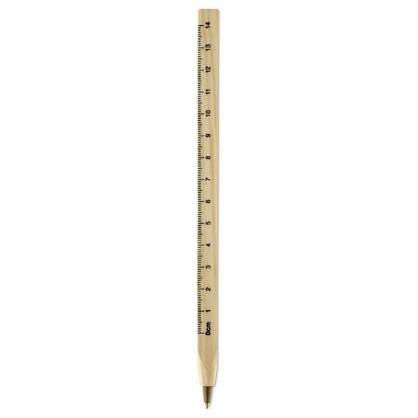 Ручка роллер деревянная, бежевая - фото № 1