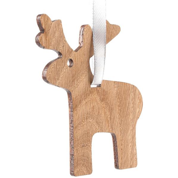 Подвеска Carving Oak в форме лося, крафт - фото № 1