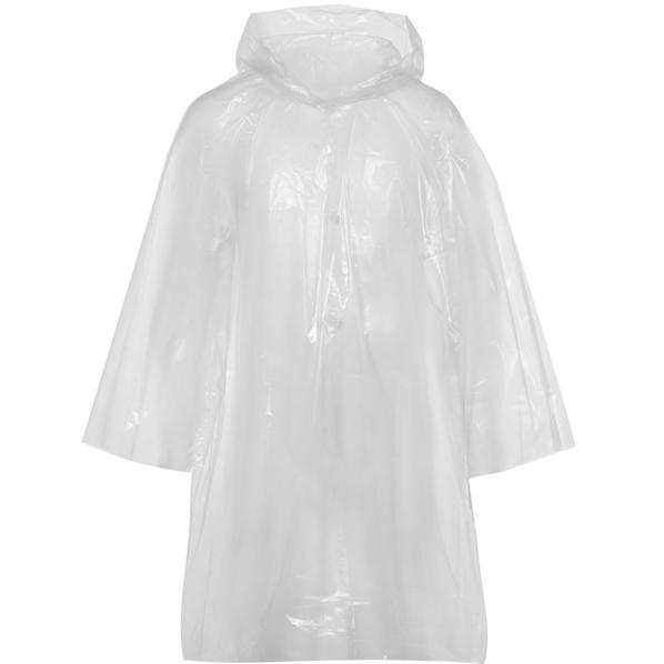Дождевик-плащ с капюшоном и длинными рукавами унисекс Molti BrightWay, прозрачный - фото № 1
