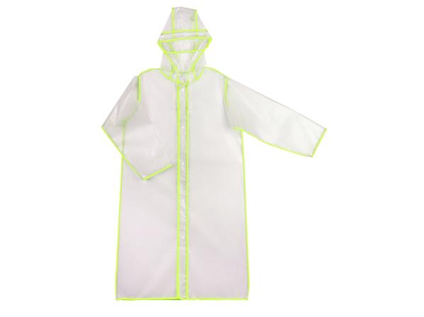 Дождевик с чехлом US Basic Providence, прозрачный / зеленый - фото № 1