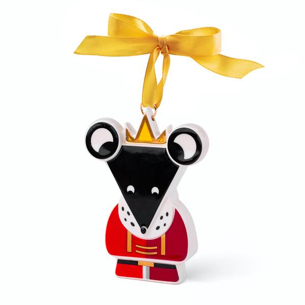 Елочная игрушка Мышиный Король в пенале, разноцветная - фото № 1