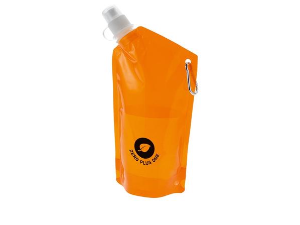 Емкость для питья Cabo с карабином, прозрачный, оранжевый - фото № 1