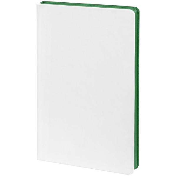 Ежедневник недатированный Контекст Duplex А5, белый / зеленый - фото № 1