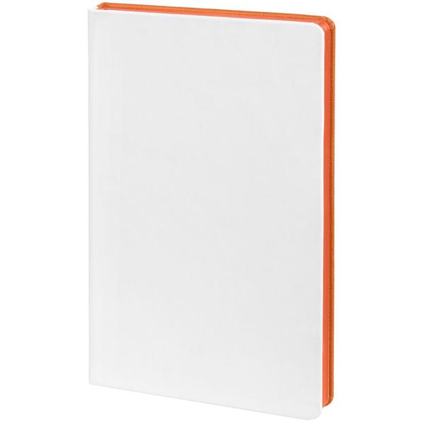 Ежедневник недатированный Контекст Duplex А5, белый / оранжевый - фото № 1
