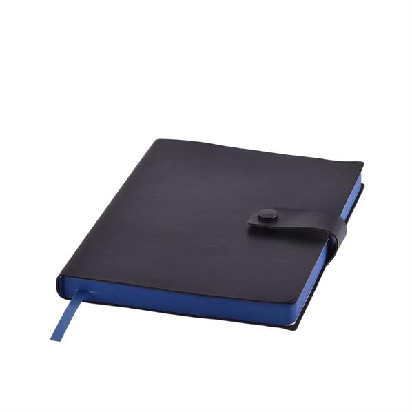 Ежедневник недатированный STELLAR, формат А5, черный с синим - фото № 1