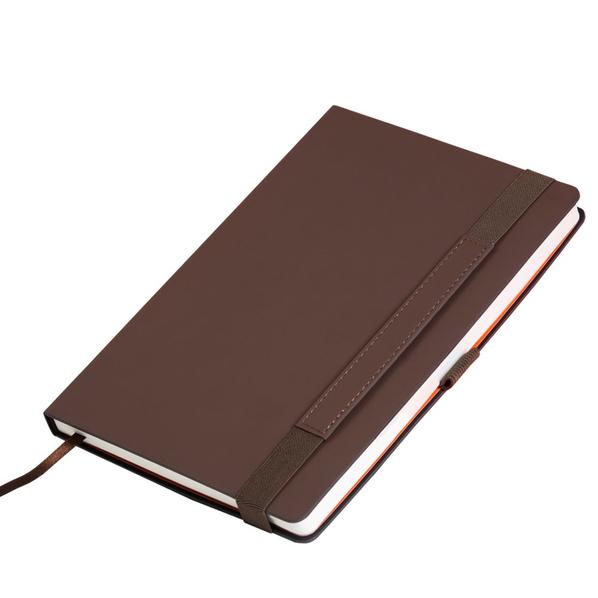 Ежедневник недатированный Portobello Trend Alpha, коричневый/ оранжевый - фото № 1