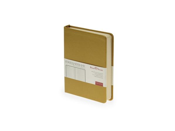 Ежедневник недатированный Bruno Visconti Megapolis А6, золотой - фото № 1