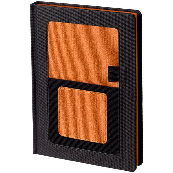 Ежедневник недатированный Контекст Mobile А5, черный / оранжевый - фото № 1