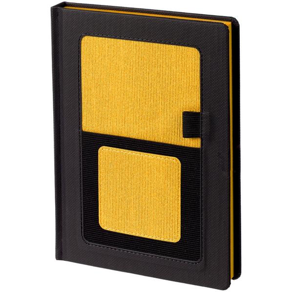 Ежедневник недатированный Контекст Mobile А5, черный / желтый - фото № 1