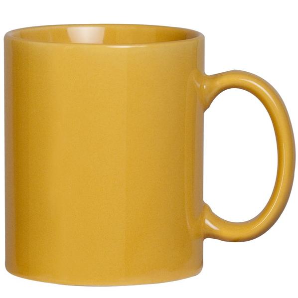 Фаянсовая кружка, желтая - фото № 1