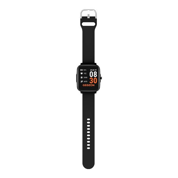 Фитнес-часы с функцией термометра Geozon Stayer, черные - фото № 1