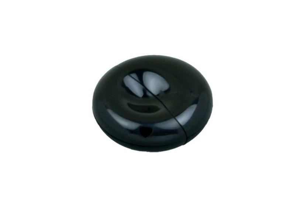 Флешка промо USB 2.0 на 8 Гб круглой формы, чёрная - фото № 1