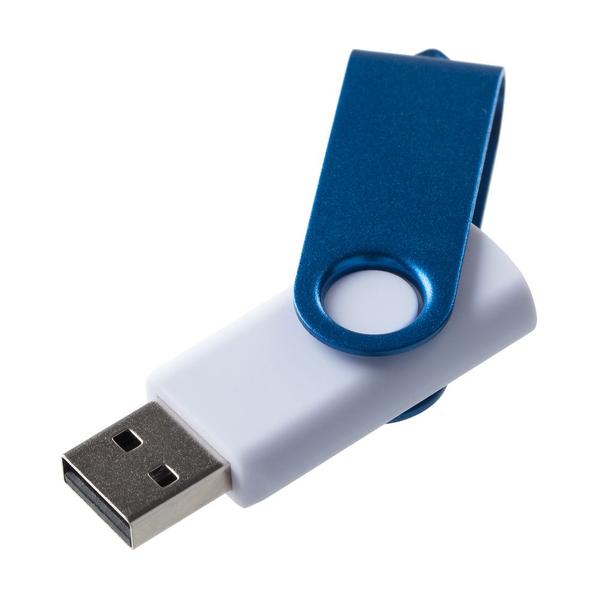 Флешка Twist Color, белая с синим, 8 Гб - фото № 1