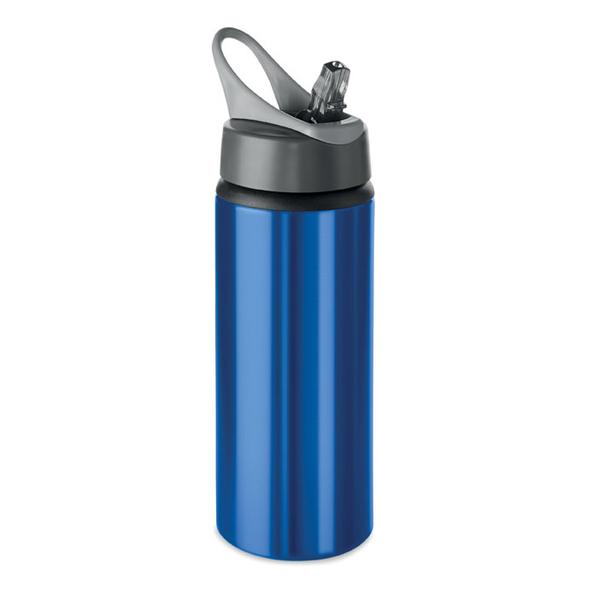 Бутылка для воды алюминиевая, 600 мл, синяя - фото № 1