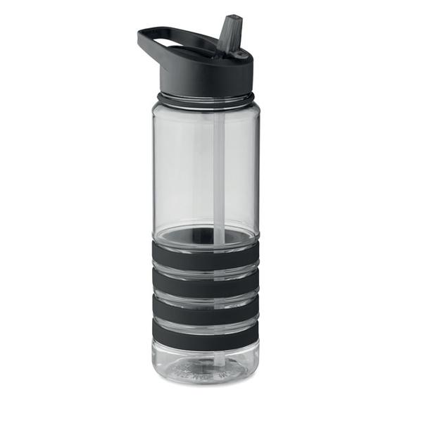 Бутылка для питья, черная / прозрачная - фото № 1