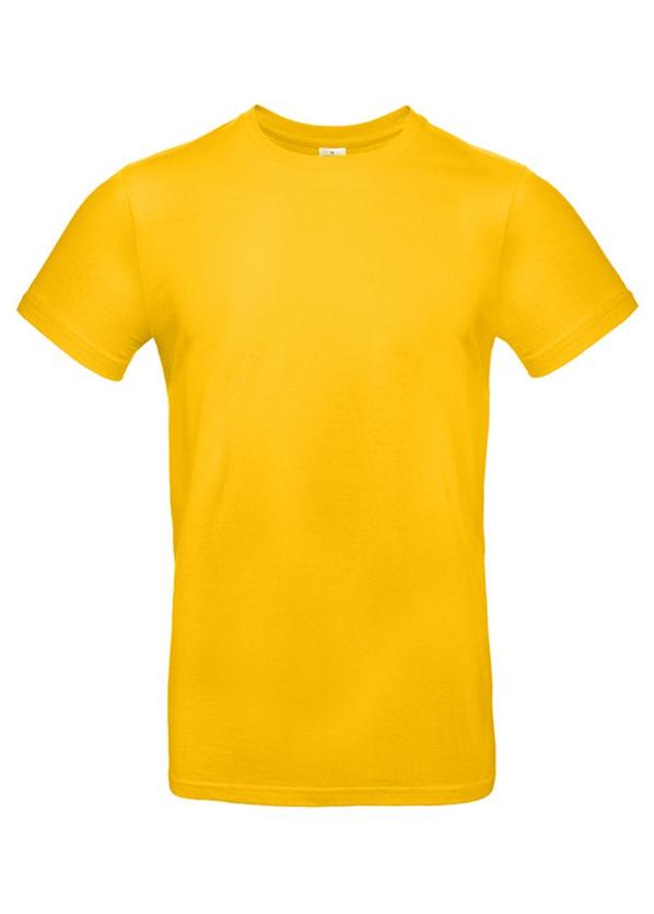 Футболка мужская B&C E190, желтая - фото № 1
