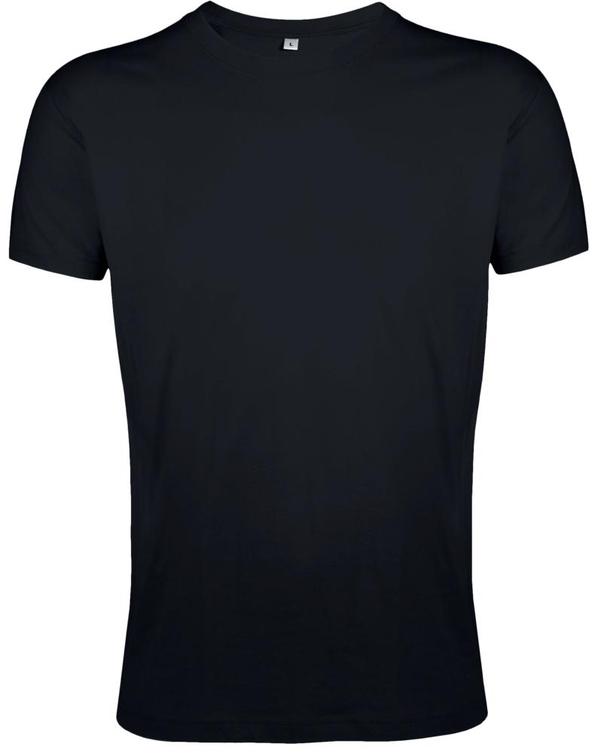Футболка мужская приталенная Sol's Regent Fit 150, черная - фото № 1