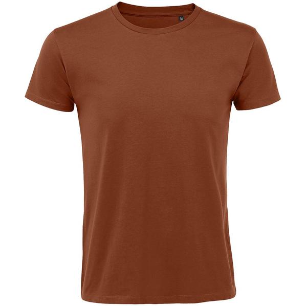 Футболка мужская приталенная Sol's Regent Fit 150, коричневая - фото № 1
