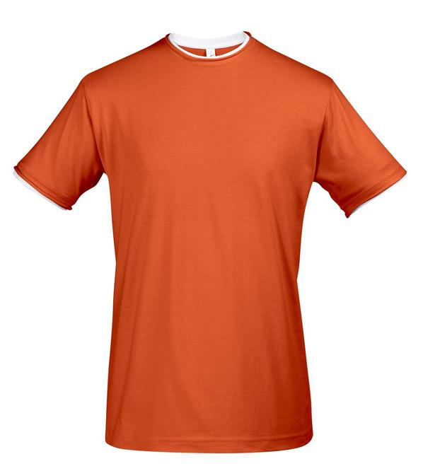 Футболка мужская Sol's Madison 170, оранжевая / белая - фото № 1