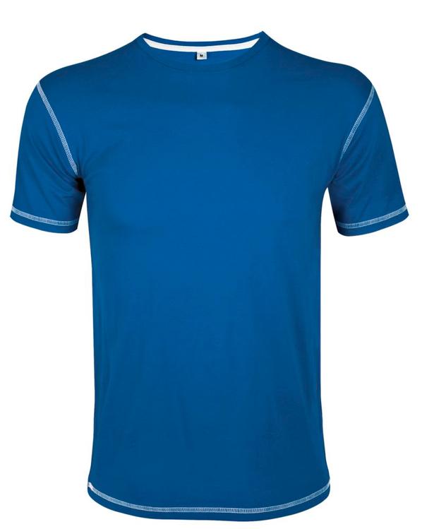 Футболка мужская Sol's Madison 170, ярко-синий / белый - фото № 1