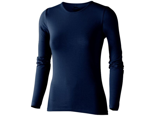 Лонгслив женский Slazenger Curve, темно-синий - фото № 1