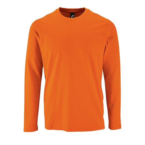Футболка с длинным рукавом мужская Sol's Imperial LSL Men,оранжевая - фото № 1
