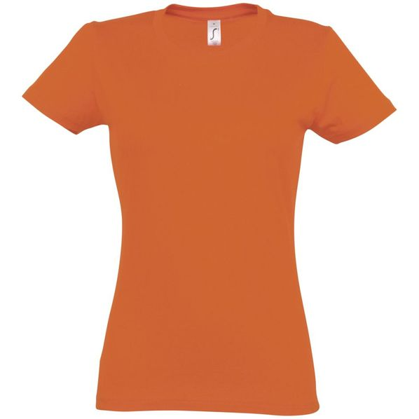 Футболка женская Sol's Imperial Women 190, оранжевая - фото № 1