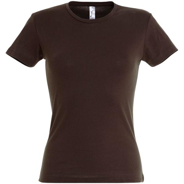Футболка женская Sol's Miss 150, шоколадно-коричневая - фото № 1
