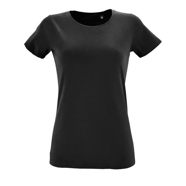 Футболка женская Sol's Regent Fit Women, черная - фото № 1