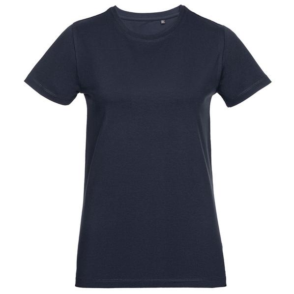 Футболка женская приталенная T-Bolka Stretch Light Lady, темно-синяя - фото № 1