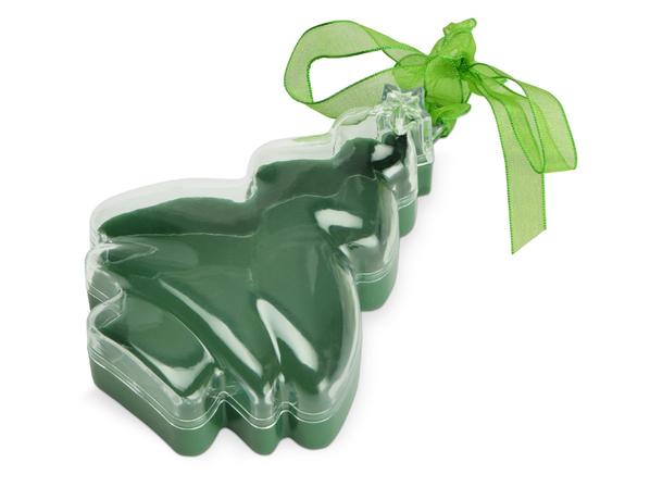 Футляр подарочный в виде елки, зеленый - фото № 1