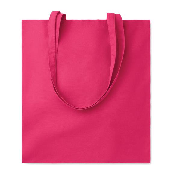 Хлопковая сумка, розовая, 180 гр/м2 - фото № 1