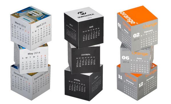 Календарь магнитный «Кубики», белый - фото № 1