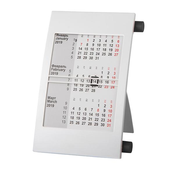 Календарь настольный на 2 года, черный, белый - фото № 1