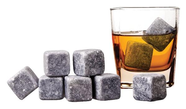 Камни для виски 9 камней Whisky Stones, темно-серый - фото № 1