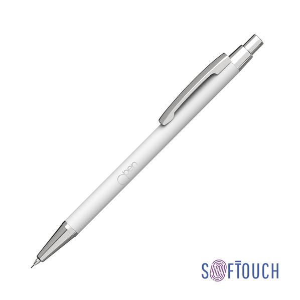 Карандаш механический CPen Ray, белый, покрытие soft touch - фото № 1