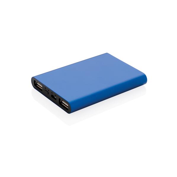 Внешний аккумулятор XD Collection, алюминиевый, 5000 mAh, синий - фото № 1