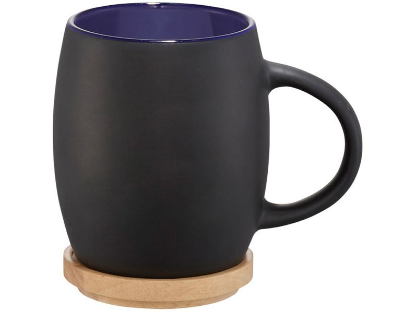 Керамическая чашка Hearth, черный/ синий - фото № 1