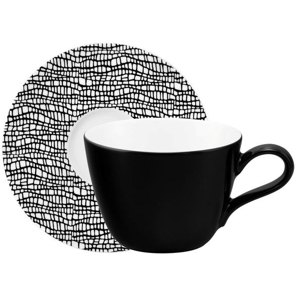 Кофейная пара Seltmann Life Fashion, черная - фото № 1