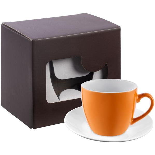 Кофейная пара Refined в подарочной упаковке, оранжевая - фото № 1