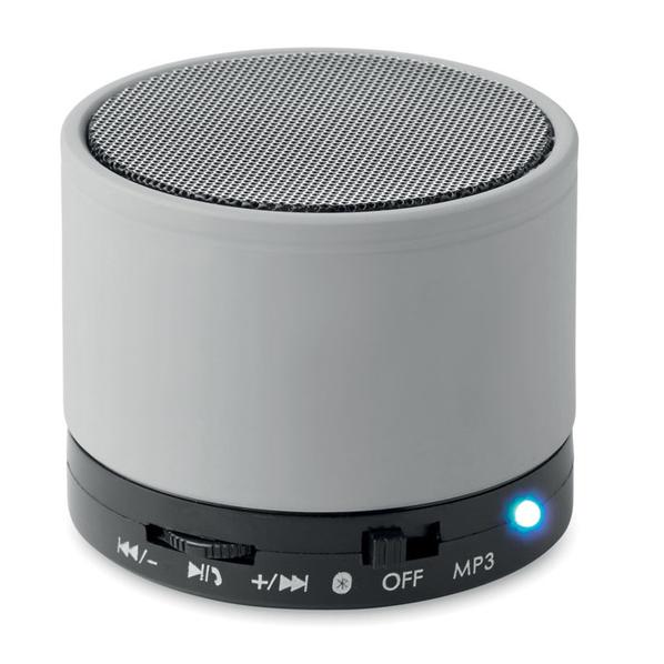 Колонка Bluetooth круглая, 450 mAh, 6x5 см, soft touch, черная/ серая - фото № 1