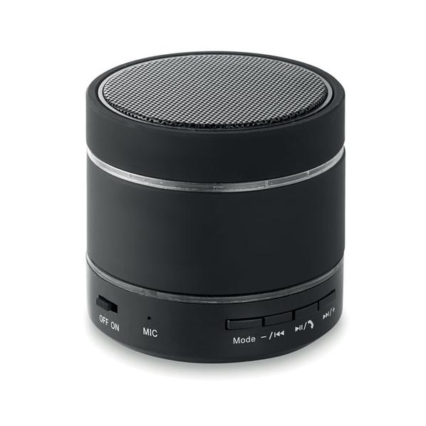 Колонка Bluetooth круглая, 300 mAh, черная - фото № 1