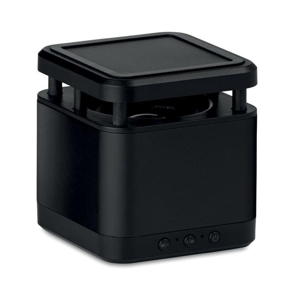 Колонка с беспроводной зарядкой, черная - фото № 1