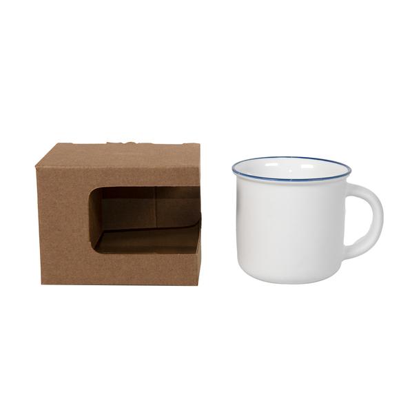 Коробка для кружек, 12,3х10,0х9,2 см, микрогофрокартон, коричневая - фото № 1