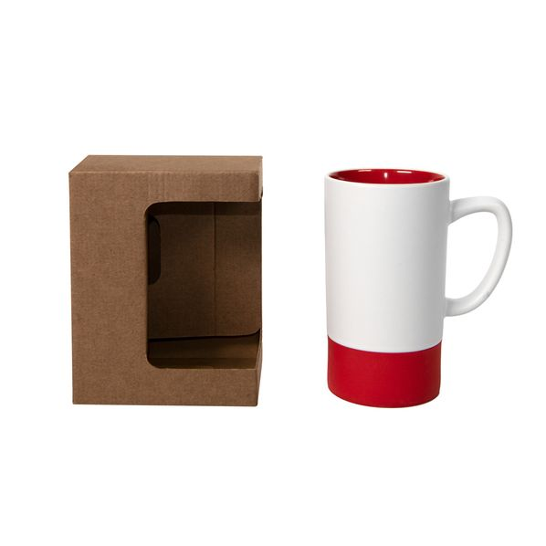 Коробка для кружки, 11,9х8,6х15,2 см, микрогофрокартон, коричневая - фото № 1