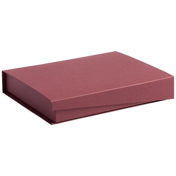 Коробка Duo под ежедневник и ручку, бордовая - фото № 1